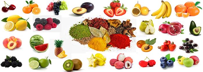 Frutas e Especiarias